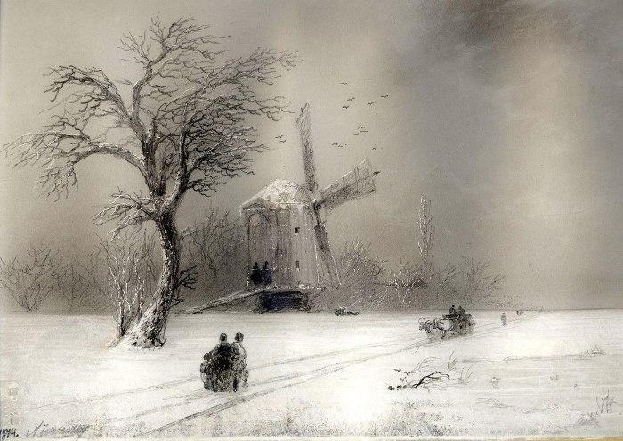 Неизвестный Айвазовский. Зимние пейзажи