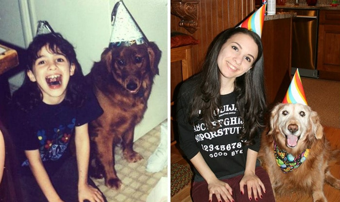 This Is Brandy And I On Her First Birthday, And 14 Years Later On Her Fifteenth