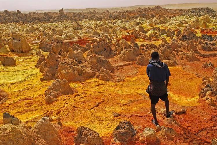 Красочные дюны национального вулканического парка Лассен, США