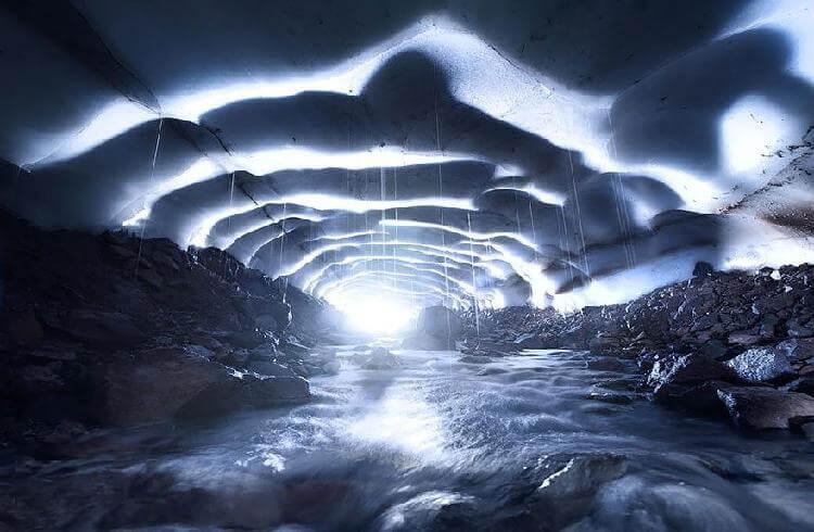 Ледяная пещера, Орегон, США