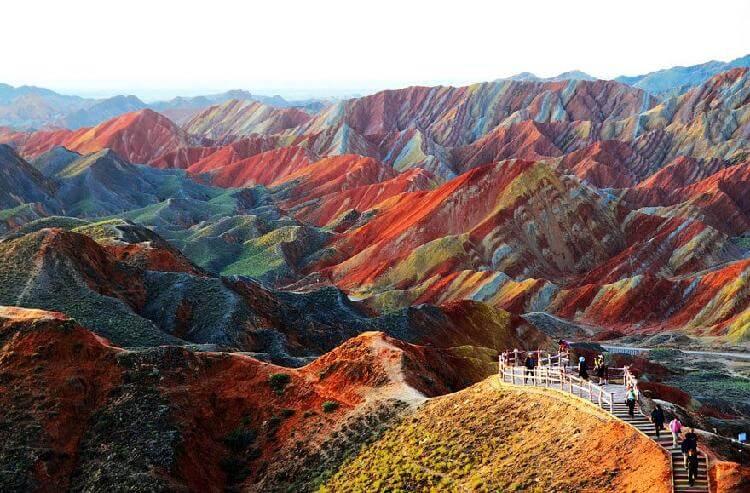 Национальный геопарк Чжанъе Данься, Ганьсу, Китай