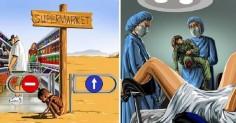 11 жестоких картинок о том, что происходит в современном обществе