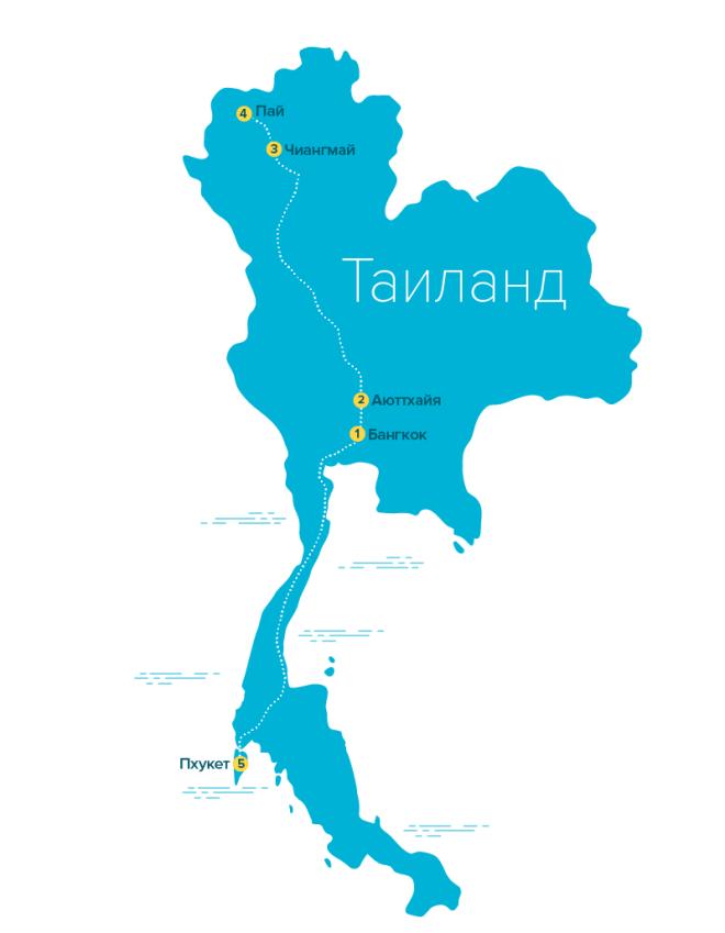 Маршрут самостоятельного путешествия по Таиланду