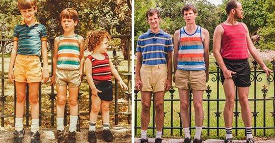 Люди захотели воспроизвести детские фото. Получилось просто отлично